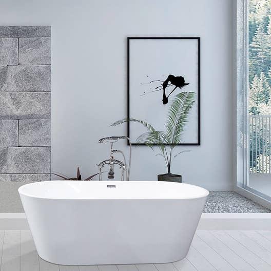 baignoire lot ovale cm blanc anna leroy merlin. Black Bedroom Furniture Sets. Home Design Ideas