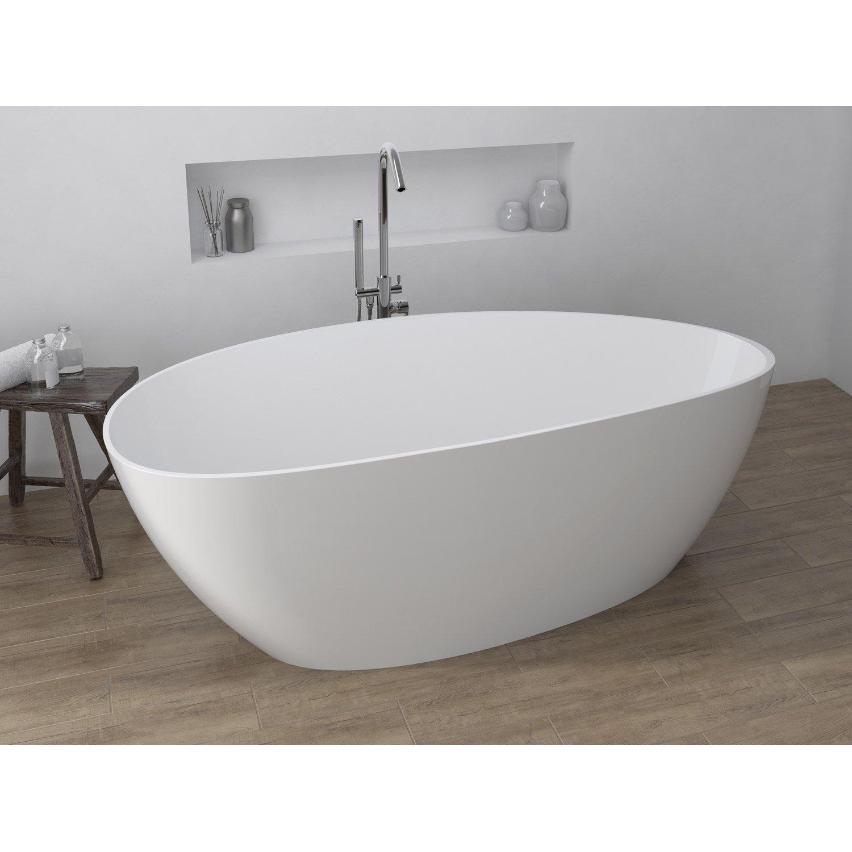 baignoire lot ovale cm blanc stori leroy merlin. Black Bedroom Furniture Sets. Home Design Ideas