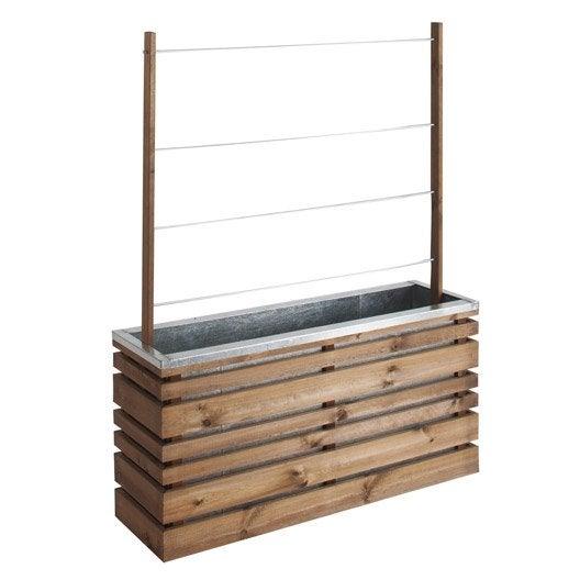 bac fleurs bois fibre plastique leroy merlin. Black Bedroom Furniture Sets. Home Design Ideas