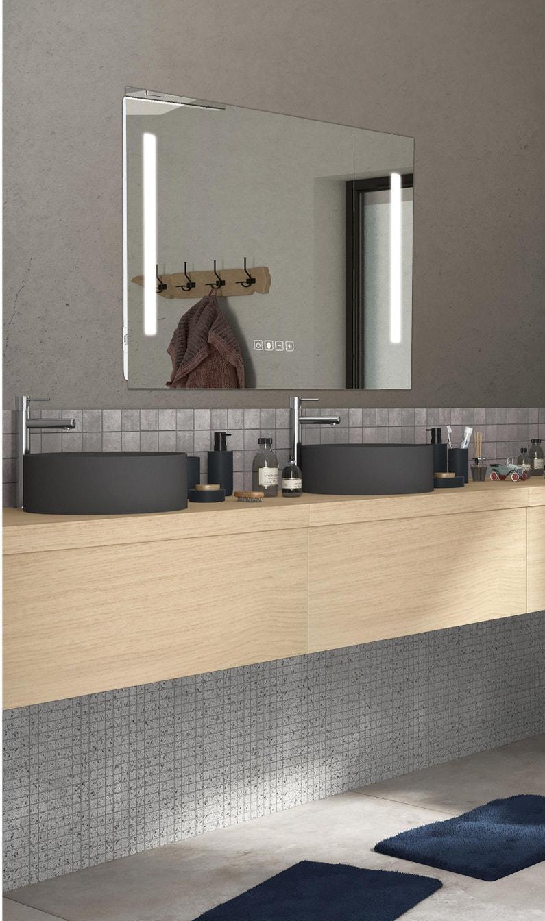Mettre Un Miroir Dans Une Cuisine miroir lumineux avec éclairage intégré, l.120 x h.70 cm