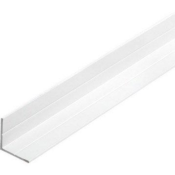 Cornière égale aluminium epoxy, L.2.5 m x l.1.95 cm x H.1.95 cm