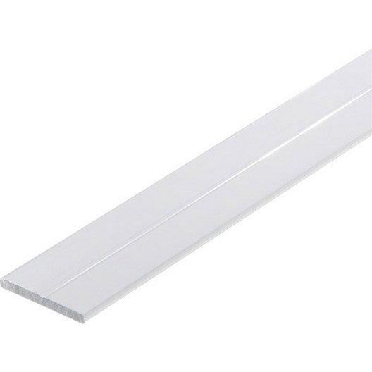 Plat rainur en aluminium epoxy l1m x x leroy merlin - Fer plat alu leroy merlin ...