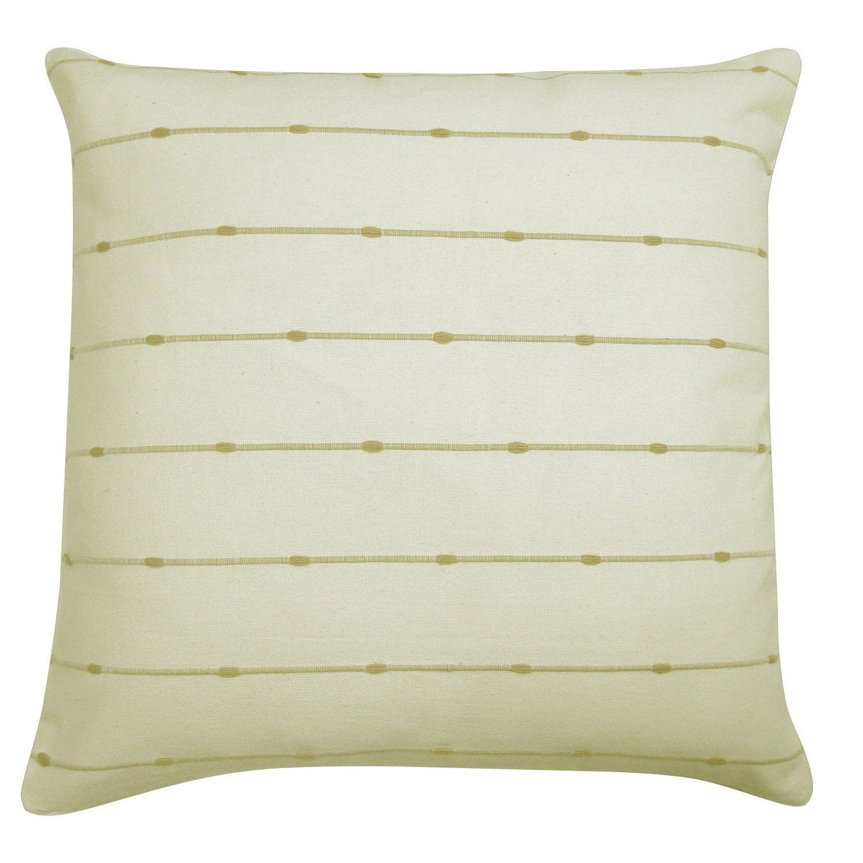 Housse de coussin fil jute blanc x cm leroy - Housse de coussin blanc ...