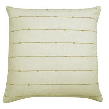 Housse de coussin Fil jute, blanc, 40 x 40 cm