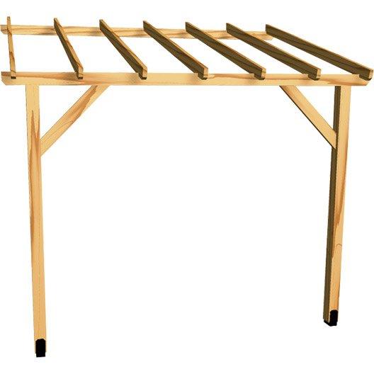 appenti bois auvent 1 pan m leroy merlin. Black Bedroom Furniture Sets. Home Design Ideas