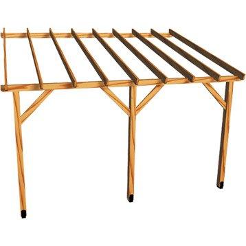 Appenti en bois traité AUVENT 1 pan, 12 m²
