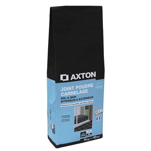 Joint poudre tout type de carrelage et mosaïque AXTON, gris argent, 5 kg