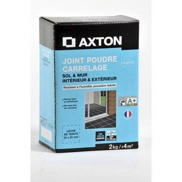 Joint poudre tout type de carrelage et mosaïque AXTON, ivoire, 2 kg