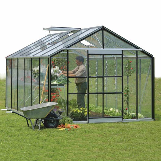 serre de jardin en verre tremp affinity m leroy merlin. Black Bedroom Furniture Sets. Home Design Ideas