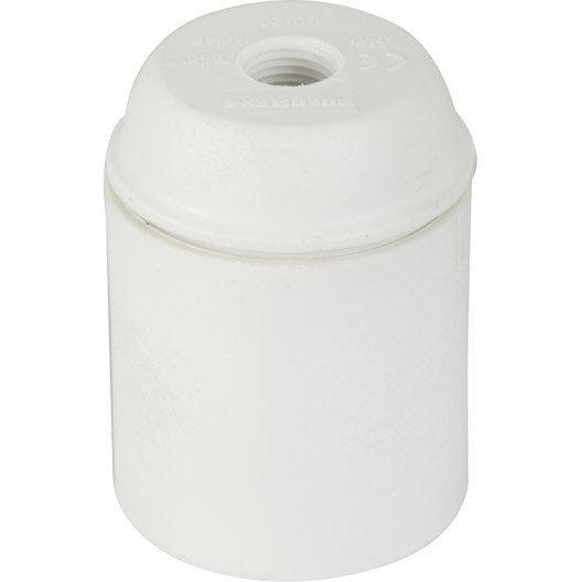 Douille électrique à vis E27, 150 W, blanc