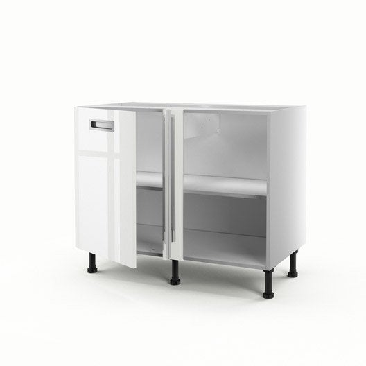 meuble de cuisine bas d 39 angle blanc 1 porte play x x cm leroy merlin. Black Bedroom Furniture Sets. Home Design Ideas