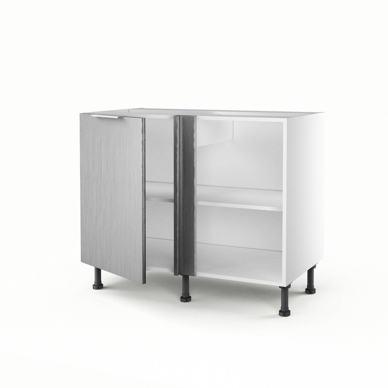 Meuble De Cuisine Bas D Angle D Cor Aluminium 1 Porte Stil H 70 X  # Meuble Bas D'Angle Salon
