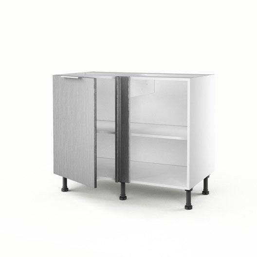Meuble de cuisine bas d 39 angle d cor aluminium 1 porte stil for Meuble d angle de cuisine ikea