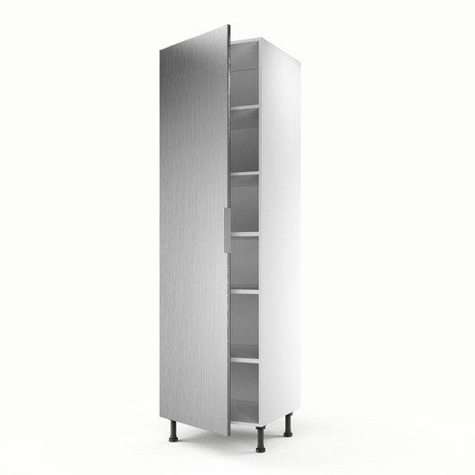 Meuble de cuisine colonne d cor aluminium 1 porte stil h for Porte 60 cm de large