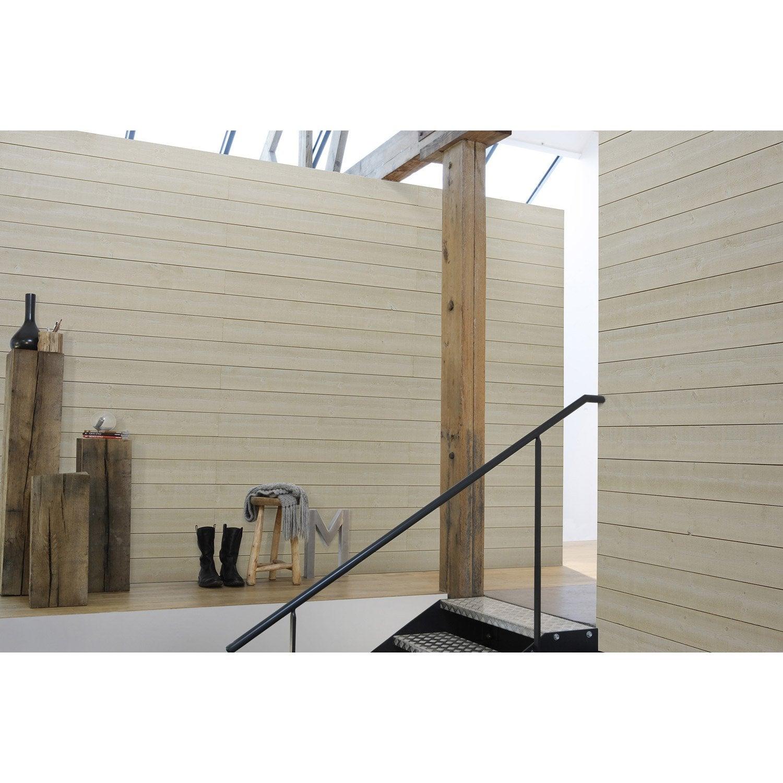 lambris sapin brut de sciage blanc artens x cm mm leroy merlin. Black Bedroom Furniture Sets. Home Design Ideas
