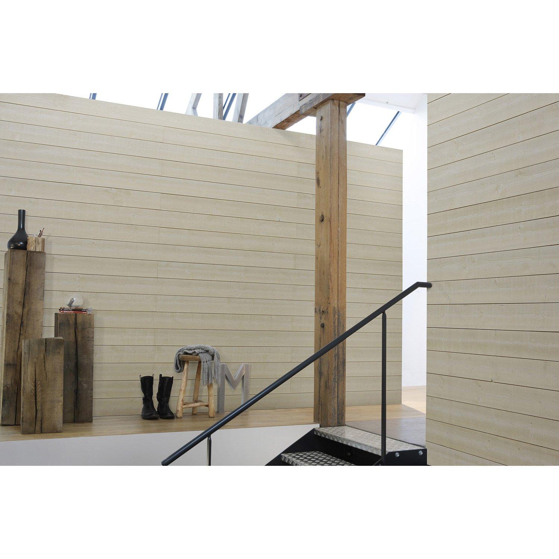 Poser Du Lambris Dans Les Combles en ce qui concerne lambris sapin brut de sciage blanc artens, l.205 x l.13.5 cm, ep.12