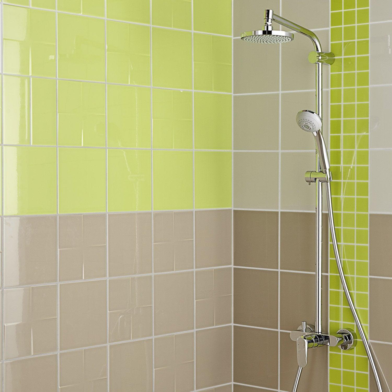 Décor vert pistache n°5 brillant l.20 x L.20 cm, Astuce   Leroy Merlin