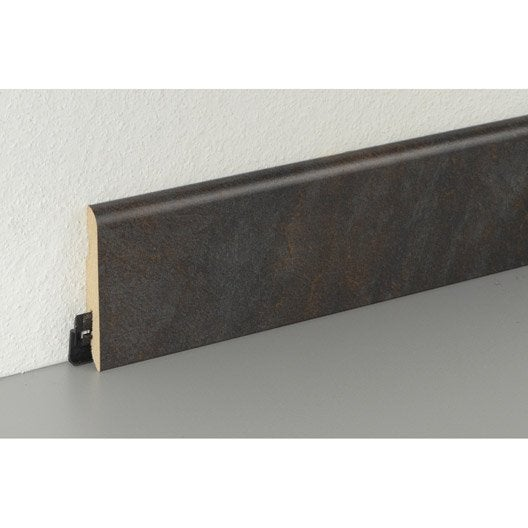 plinthe sol stratifi effet mica noir cm x x mm leroy merlin. Black Bedroom Furniture Sets. Home Design Ideas