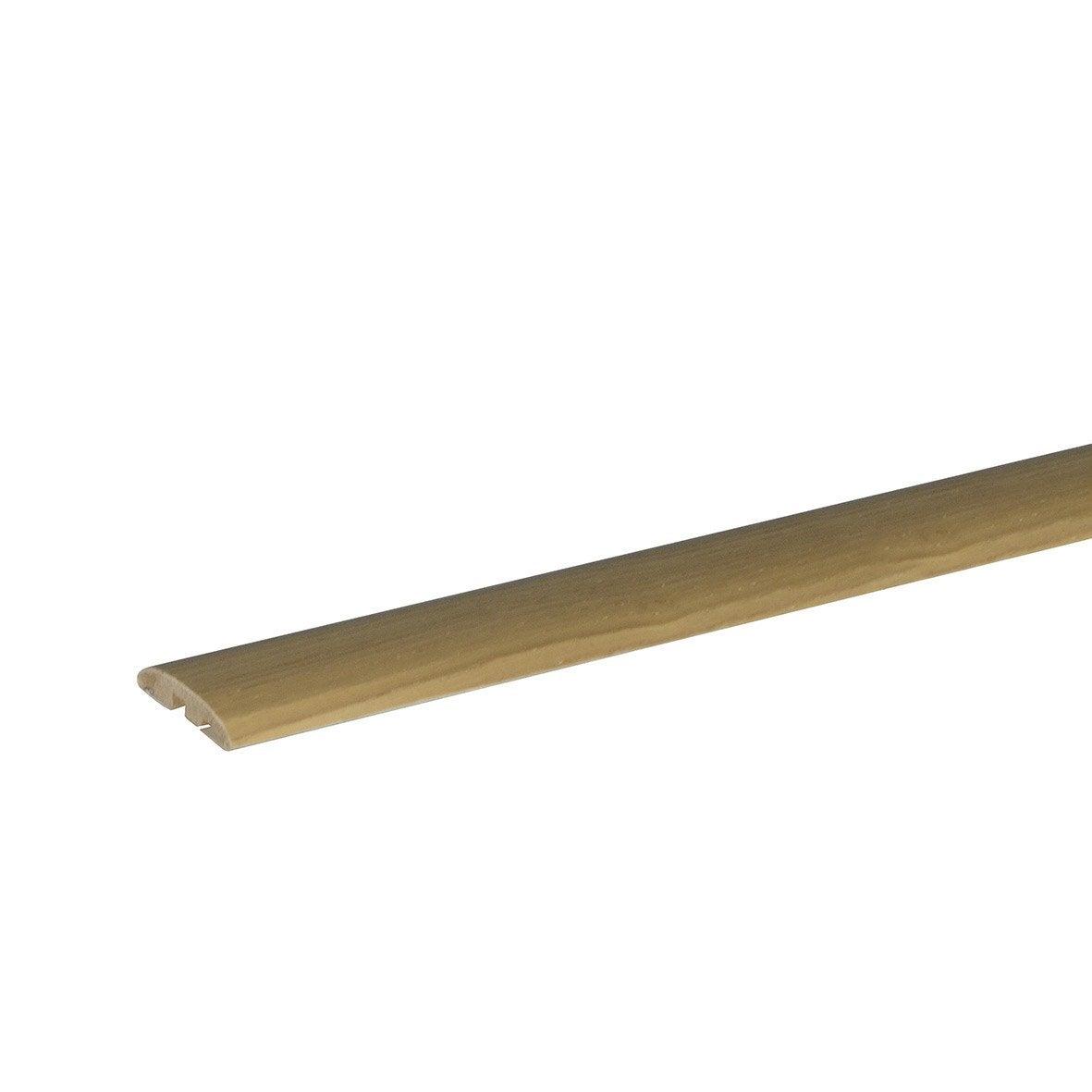 barre de seuil plaquée chêne blond pour parquet, l.90 cm x l.42 mm