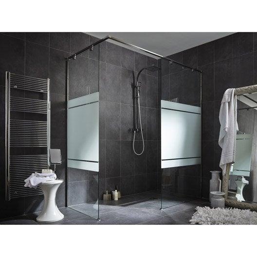 Paroi de douche l 39 italienne cm verre s rigraphi 8 mm eliseo - Paroi verre douche italienne ...