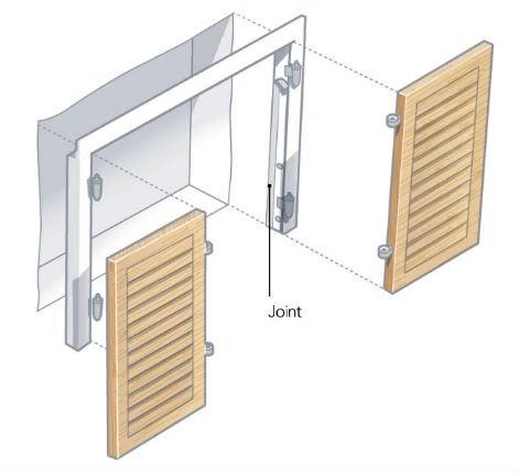 comment installer des volets battants leroy merlin. Black Bedroom Furniture Sets. Home Design Ideas