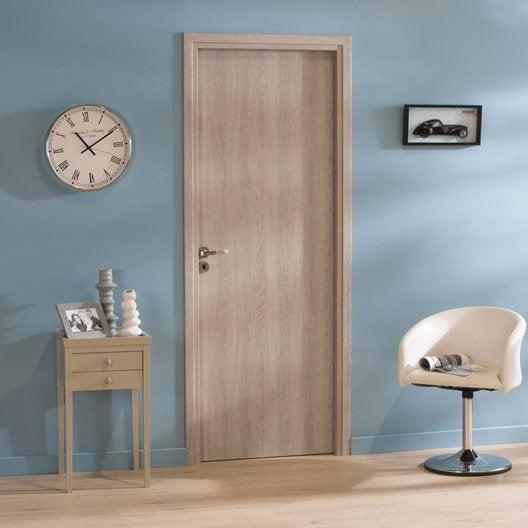 porte fin de chantier rev tu d cor ch ne gris palma poussant gauche 204x73cm. Black Bedroom Furniture Sets. Home Design Ideas
