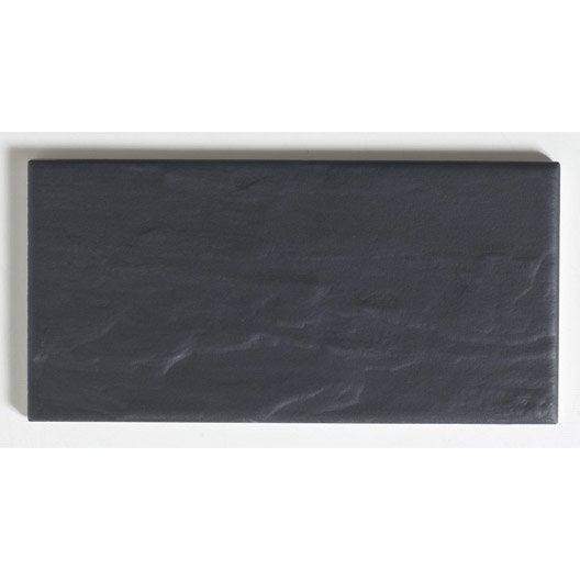 Faïence mur noir, Astuce ardoise l.10 x L.20 cm