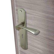 Poignées de porte Balard 40mm à trou de clé en aluminium nickelé