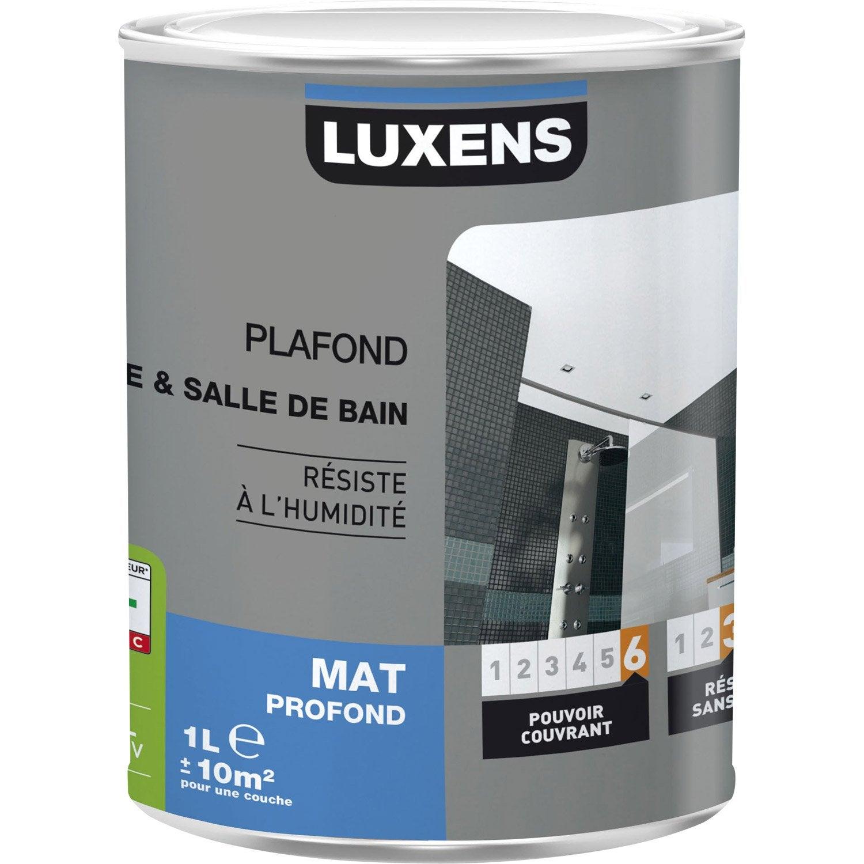 Peinture Blanche Plafond Plafond Cuisine Et Bains LUXENS Mat L - Peindre plafond salle de bain