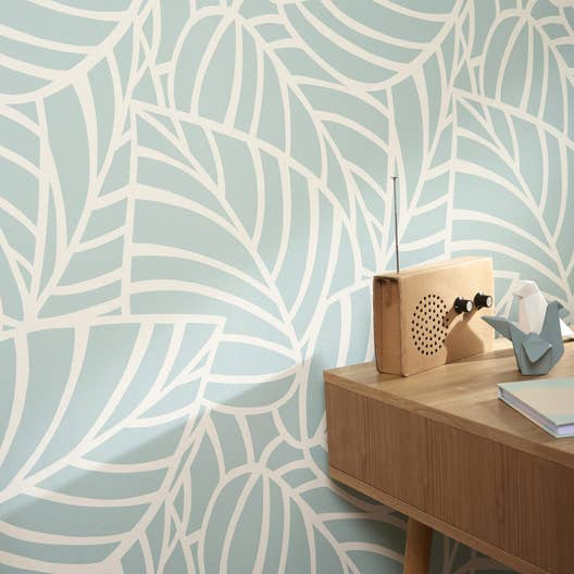papier peint intiss botero vert leroy merlin. Black Bedroom Furniture Sets. Home Design Ideas