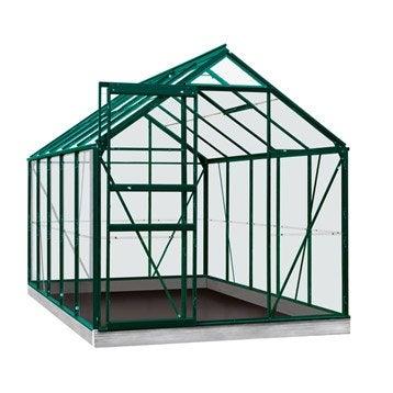 Serre de jardin en verre trempé Rainbow vert, 6,2 m²