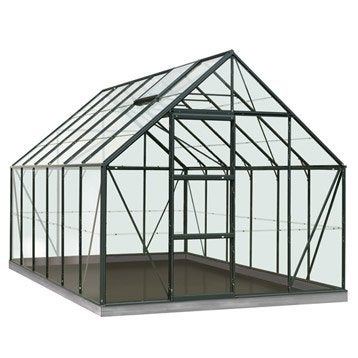 Serre de jardin en polycarbonate simple paroi Rainbow vert, 9.9 m²