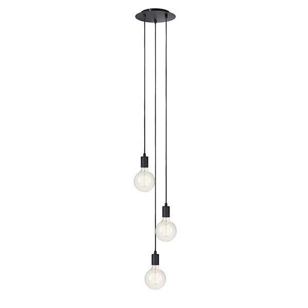 Suspension E27 Scandinave Sky Metal Noir 3 X 60 W Markslojd Leroy
