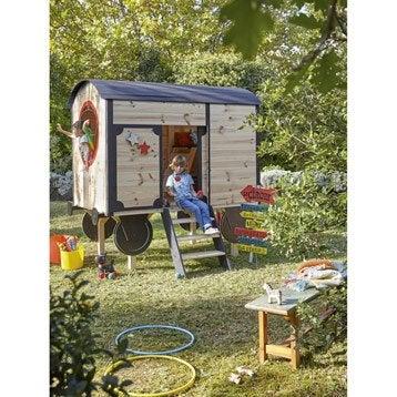 Maisonnette chalet maison cabane enfant leroy merlin - Balancelle jardin enfant ...