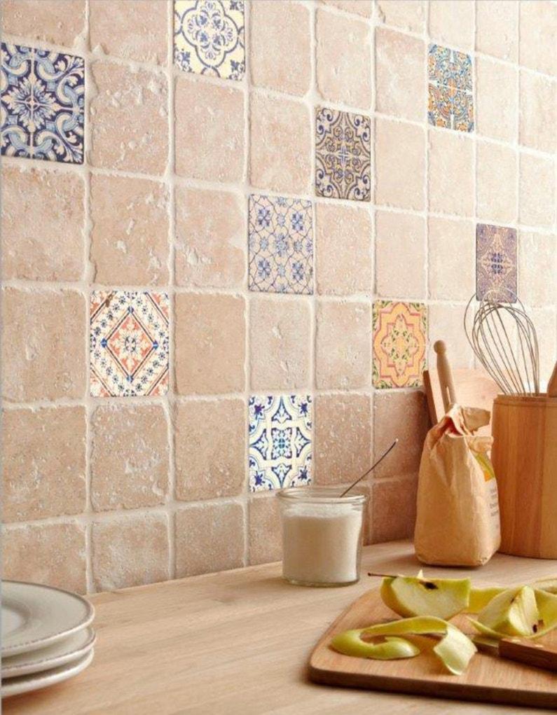 Un mur authentique gr ce au d cor renaissance leroy merlin for Ceramica para cocina fotos