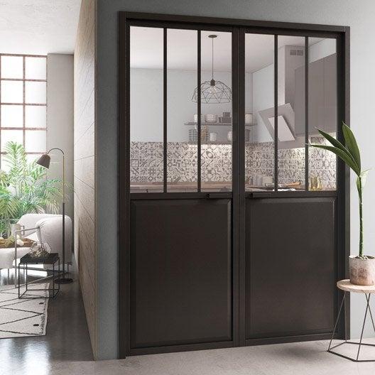 Porte int rieur et bloc porte menuiserie int rieure porte vitr e porte bois au meilleur prix - Bloc porte style atelier ...