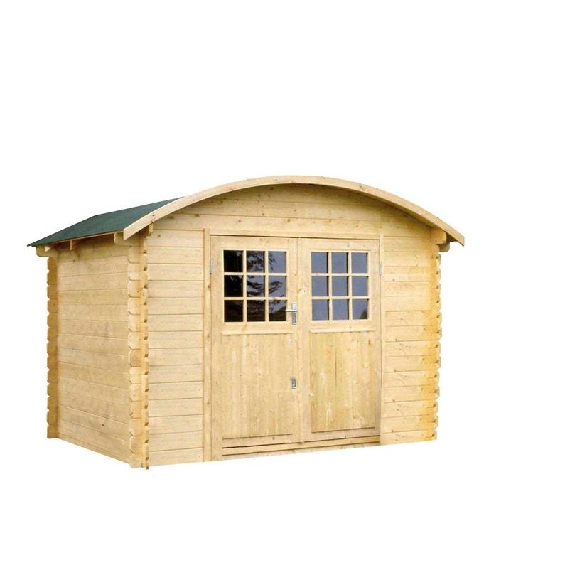 Abri de jardin bois SOLID Dainville Ep.28 mm, 5.86 m²