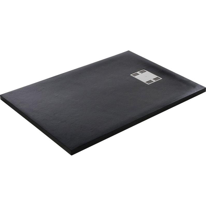 Receveur De Douche Rectangulaire L 120 X L 90 Cm Resine Noir Slate