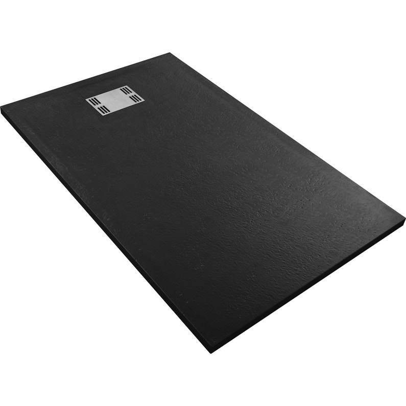 Receveur De Douche Rectangulaire L 140 X L 90 Cm Resine Noir Slate
