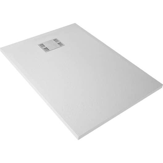 receveur de douche rectangulaire x cm r sine blanc slate leroy merlin. Black Bedroom Furniture Sets. Home Design Ideas