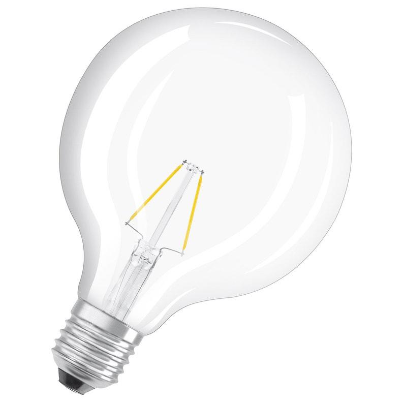 Ampoule Led à Filament Dépoli Globe 125 Mm E27 806 Lm 60 W Blanc Chaud Osram