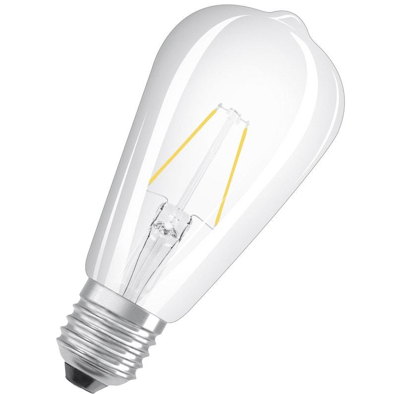 Ampoule Led à Filament Edison E27 806 Lm 60 W Blanc Chaud Osram