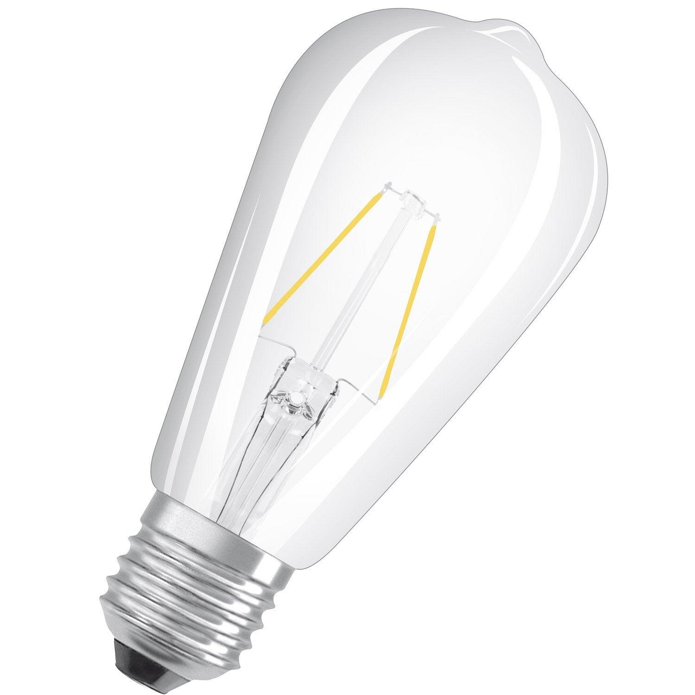 ampoule led filament edison e27 7w 806lm quiv 60w 2700k osram leroy merlin. Black Bedroom Furniture Sets. Home Design Ideas