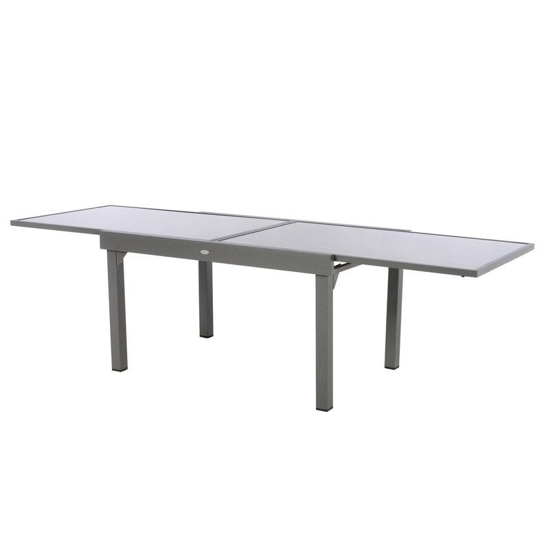 Table de jardin de repas HESPERIDE Piazza rectangulaire mastic 8 personnes