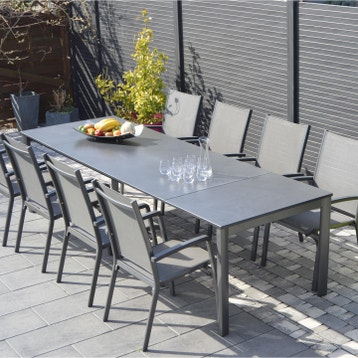 Salon De Jardin Aluminium Et Verre Trempe au meilleur prix ...