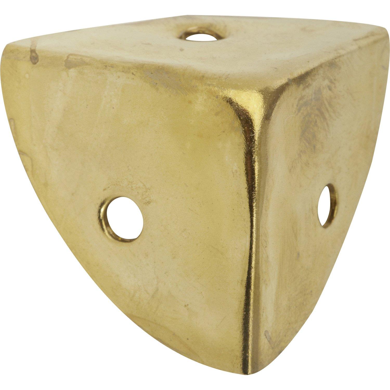 Coin de valise visser acier laitonn hettich mm leroy merlin - Coin de meuble en laiton ...