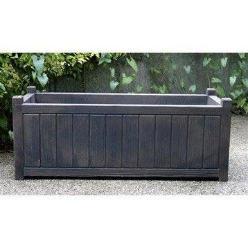 Pot xxl bois fibre plastique rond rectangulaire - Jardiniere a reserve d eau ...