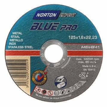 Disque métal pour métal NORTON, Diam.125 mm