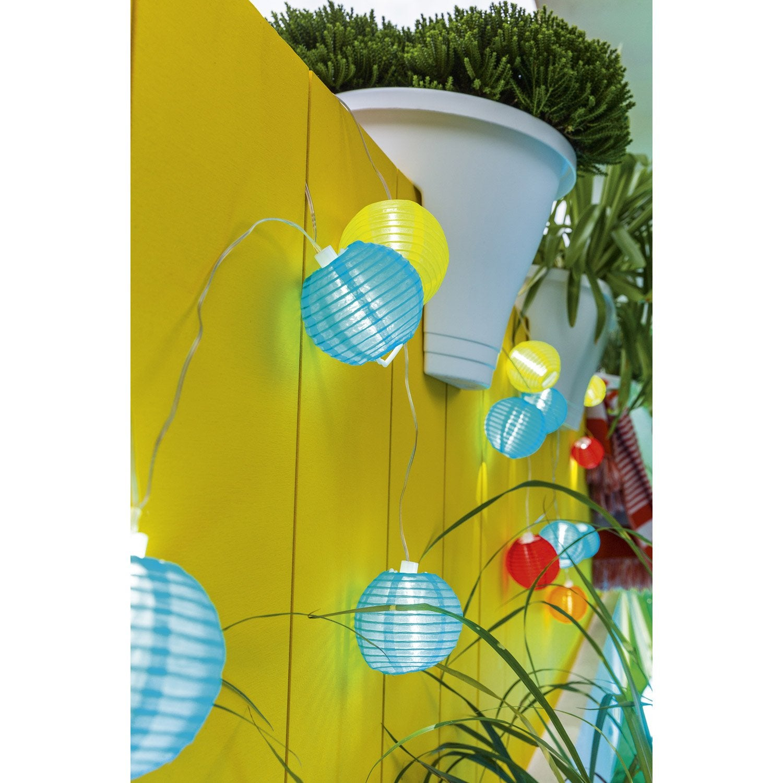guirlande solaire fiesta 3 lm multicolore leroy merlin. Black Bedroom Furniture Sets. Home Design Ideas