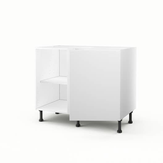 meuble de cuisine bas d 39 angle blanc 1 porte graphic x x cm leroy merlin. Black Bedroom Furniture Sets. Home Design Ideas